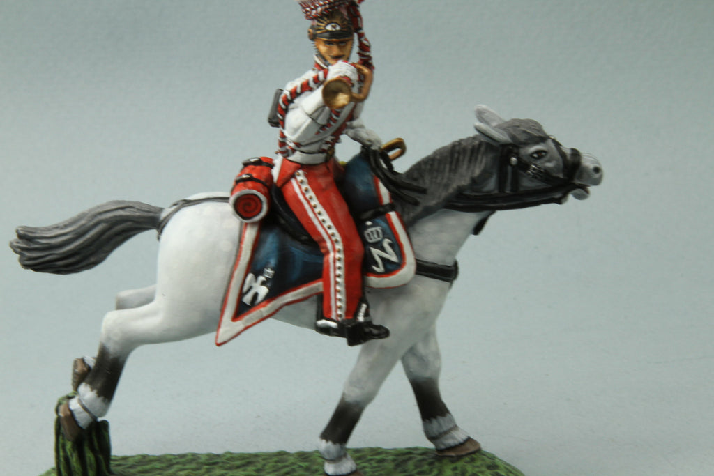 PL7 - Napoleonic French Polish Lancer Trumpeter from Frontline Figures - Piers Christian Toy Soldiers - 1