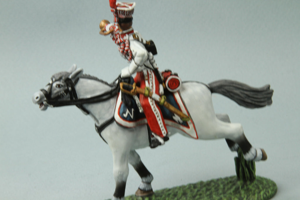 PL7 - Napoleonic French Polish Lancer Trumpeter from Frontline Figures - Piers Christian Toy Soldiers - 2
