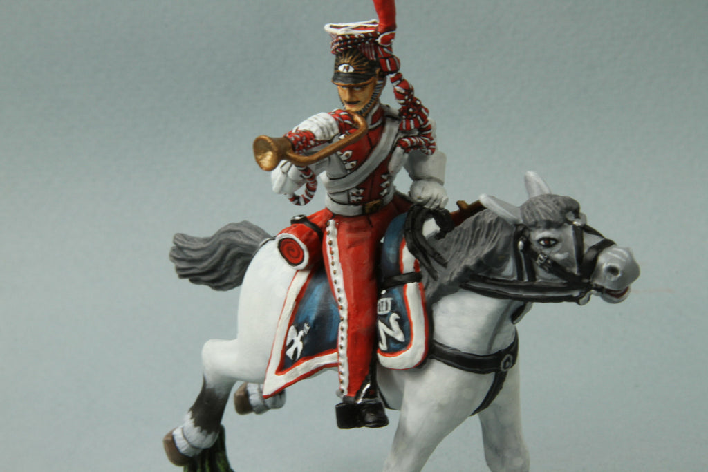 PL7 - Napoleonic French Polish Lancer Trumpeter from Frontline Figures - Piers Christian Toy Soldiers - 3