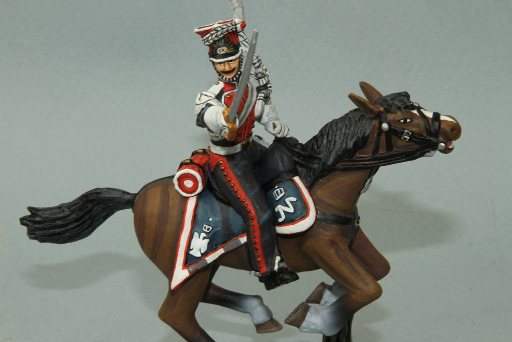 PL6 - Mounted French Polish Lancer NCO with sword from Frontline Napoleonic - Piers Christian Toy Soldiers - 1