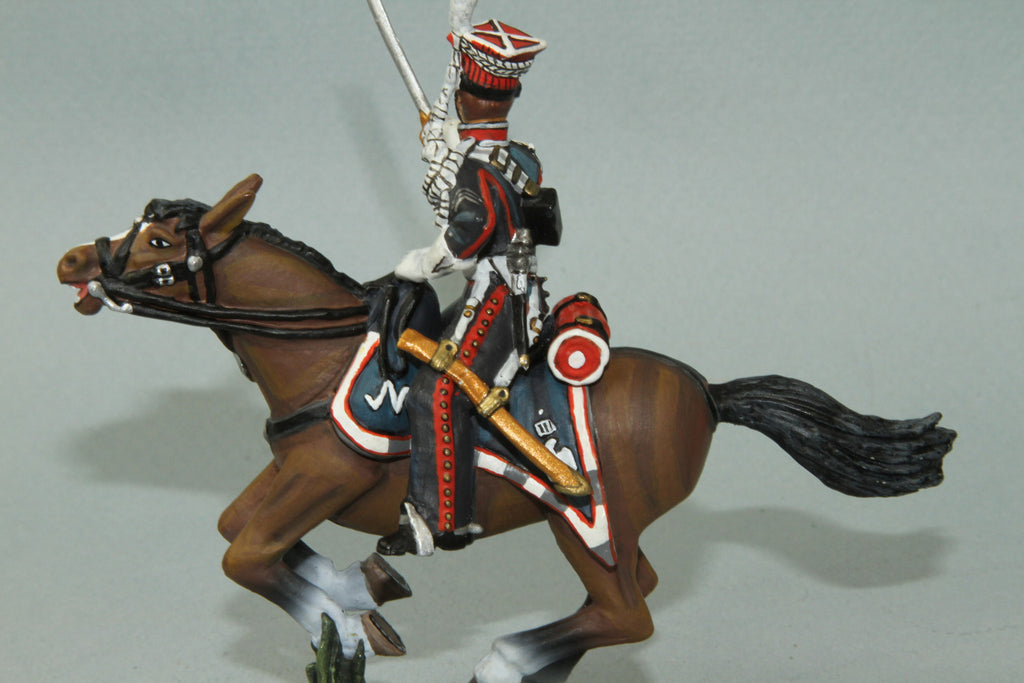PL6 - Mounted French Polish Lancer NCO with sword from Frontline Napoleonic - Piers Christian Toy Soldiers - 2