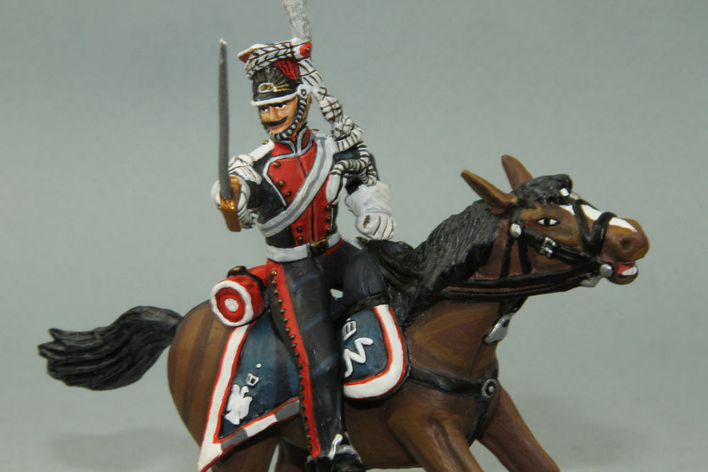 PL6 - Mounted French Polish Lancer NCO with sword from Frontline Napoleonic - Piers Christian Toy Soldiers - 3