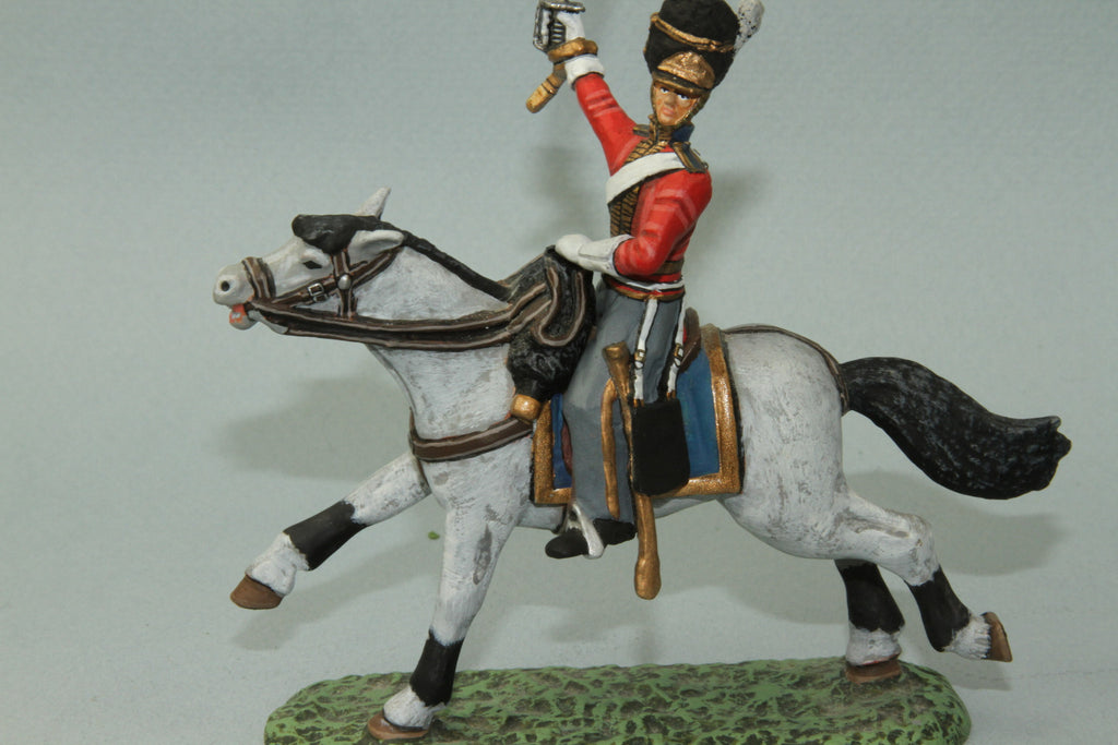 SGS.6 - Mounted British Scots Greys Officer Charging. Frontline Napoleonic - Piers Christian Toy Soldiers - 2