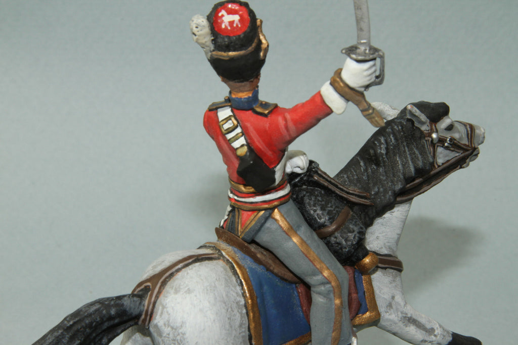 SGS.6 - Mounted British Scots Greys Officer Charging. Frontline Napoleonic - Piers Christian Toy Soldiers - 3