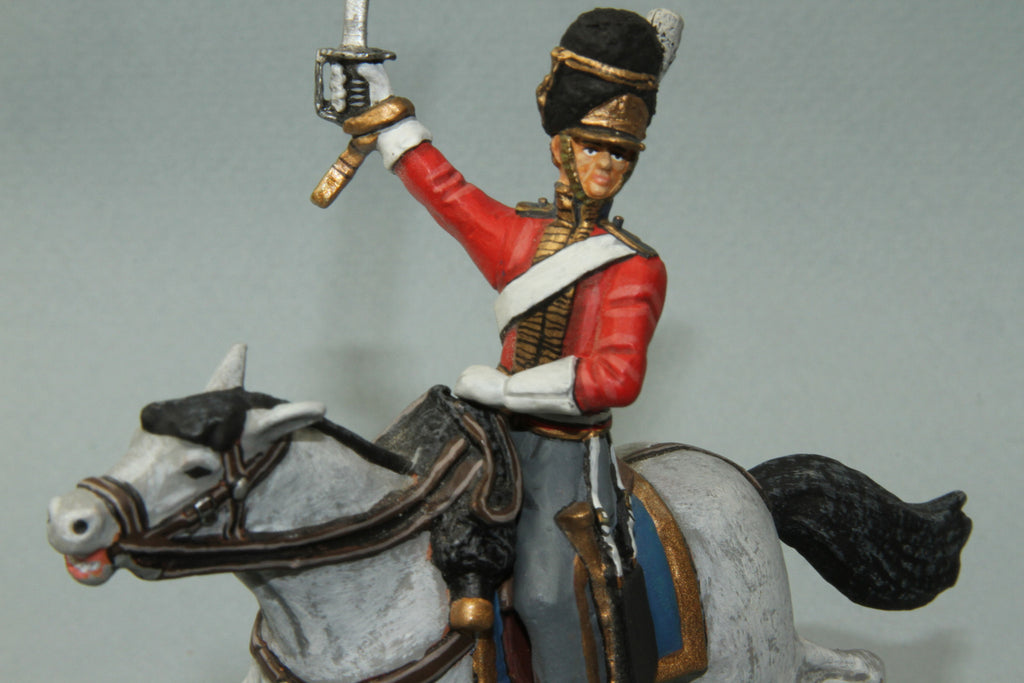 SGS.6 - Mounted British Scots Greys Officer Charging. Frontline Napoleonic - Piers Christian Toy Soldiers - 1