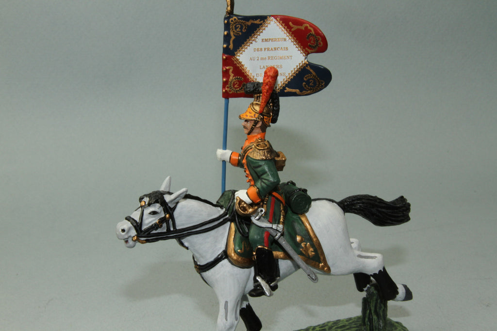 FLL.7 - French Line Lancers Standard Bearer from Frontline Napoleonic - Piers Christian Toy Soldiers