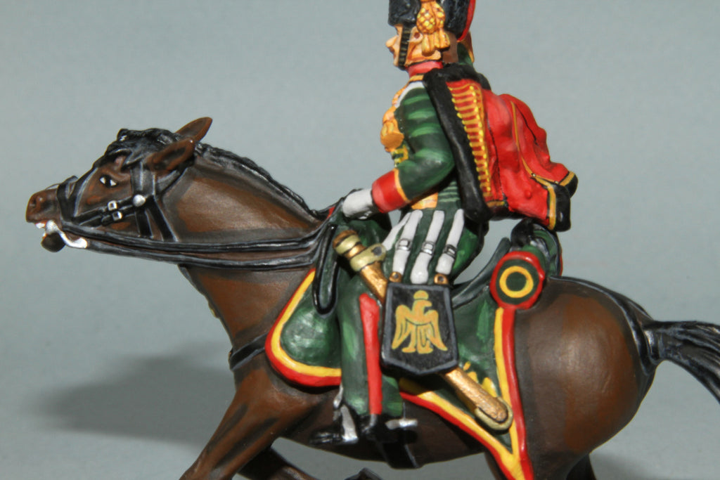 CDC.8 - French Chasseurs A Chevel Trooper from Frontline Napoleonic - Piers Christian Toy Soldiers - 3