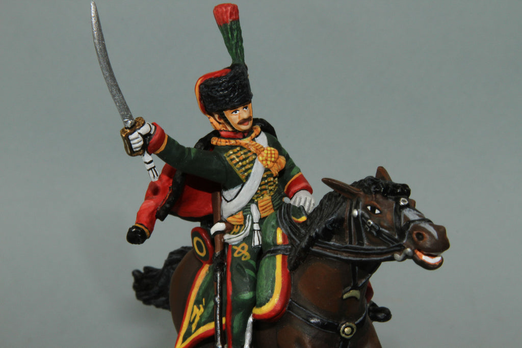 CDC.8 - French Chasseurs A Chevel Trooper from Frontline Napoleonic - Piers Christian Toy Soldiers - 2