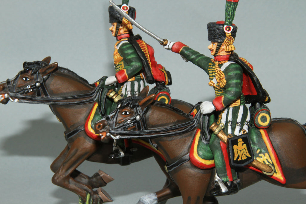 CDC.9 - French Chasseurs A Chevel NCO from Frontline Napoleonic - Piers Christian Toy Soldiers - 3