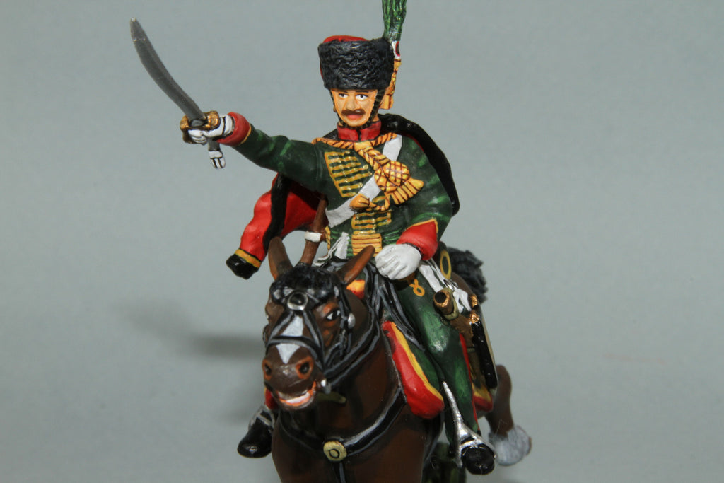 CDC.9 - French Chasseurs A Chevel NCO from Frontline Napoleonic - Piers Christian Toy Soldiers - 1