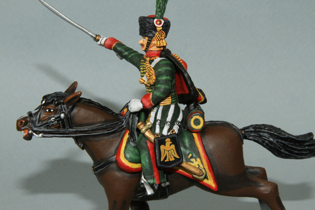 CDC.9 - French Chasseurs A Chevel NCO from Frontline Napoleonic - Piers Christian Toy Soldiers - 2