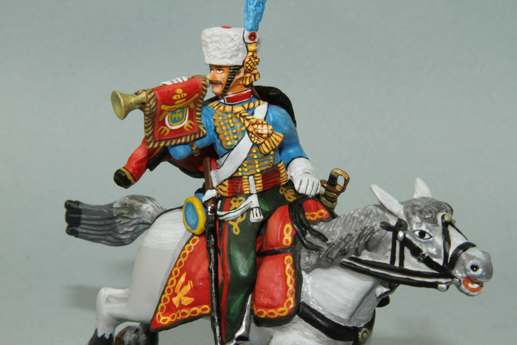 CDC.10 - French Chasseurs A Chevel Trumpeter from Frontline Napoleonic - Piers Christian Toy Soldiers - 1