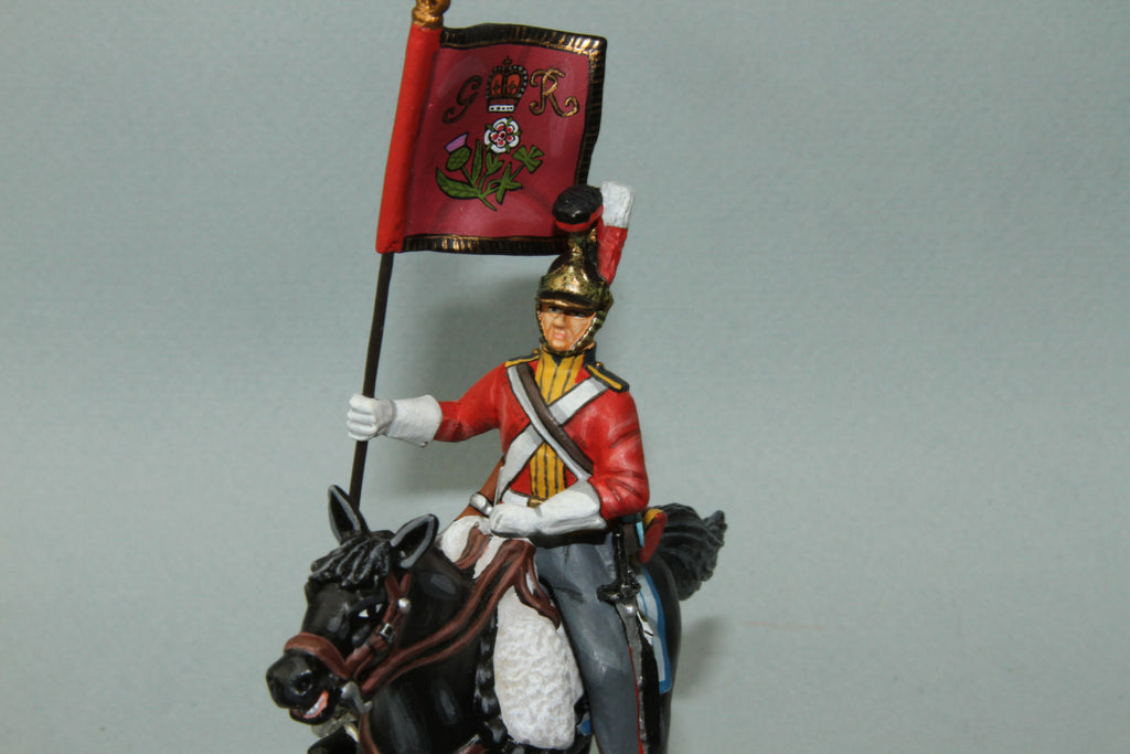 1FG.7 - British 1st Life Guards Trooper with Standard from Frontline Napoleonic - Piers Christian Toy Soldiers - 2