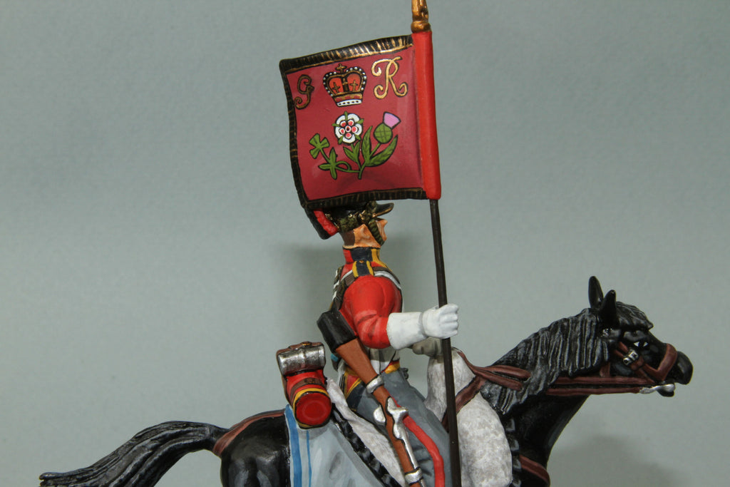1FG.7 - British 1st Life Guards Trooper with Standard from Frontline Napoleonic - Piers Christian Toy Soldiers - 1