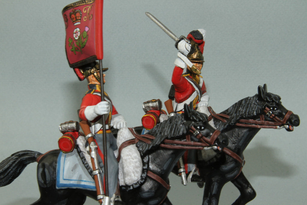 1FG.7 - British 1st Life Guards Trooper with Standard from Frontline Napoleonic - Piers Christian Toy Soldiers - 3