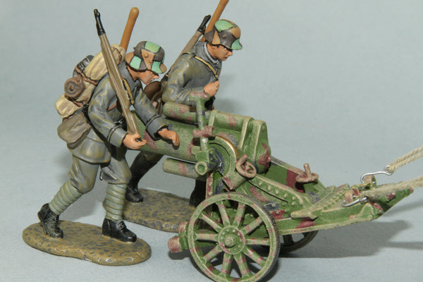EGW2 - German 245mm Trench Mortar and crew from Frontline WWI and more - Piers Christian Toy Soldiers - 1