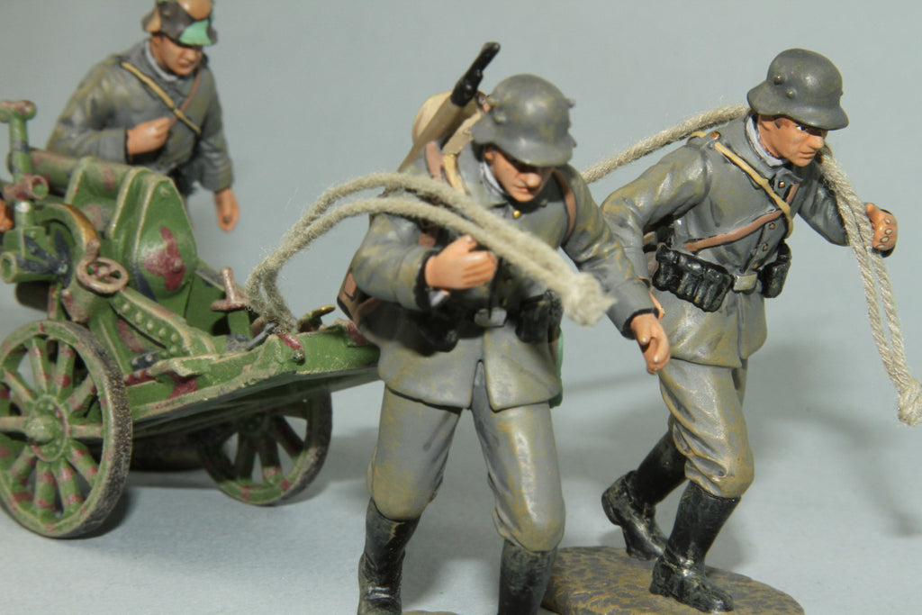 EGW2 - German 245mm Trench Mortar and crew from Frontline WWI and more - Piers Christian Toy Soldiers - 2