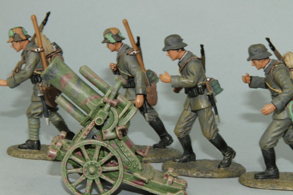 EGW2 - German 245mm Trench Mortar and crew from Frontline WWI and more - Piers Christian Toy Soldiers - 3
