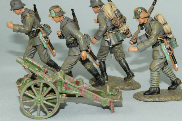 WMG2 - German 75mm Trench Mortar and crew from Frontline WWI and more - Piers Christian Toy Soldiers