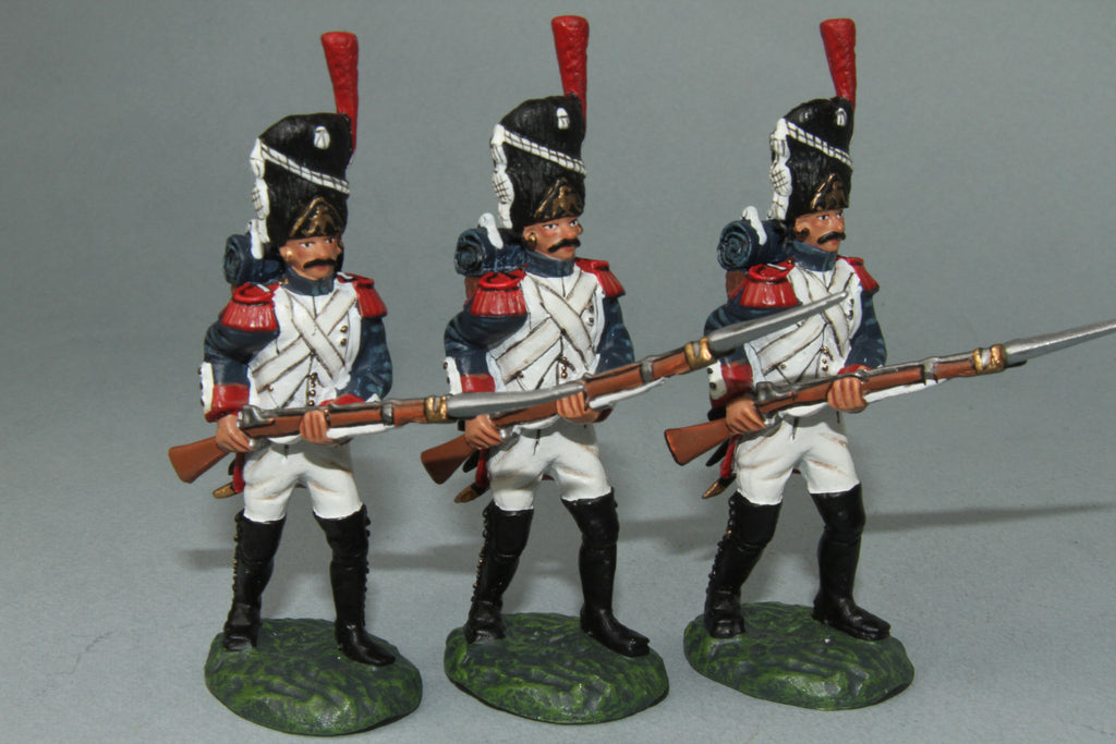 FOG9 - French Foot Grenadiers Advancing, Frontline Napoleonic - Piers Christian Toy Soldiers - 1