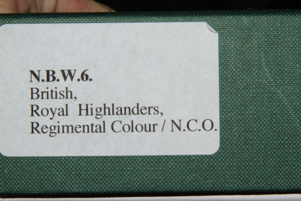NBW6 Royal Highlanders Regimental Colours N.C.O.-  Frontline Napoleonic - Piers Christian Toy Soldiers - 3