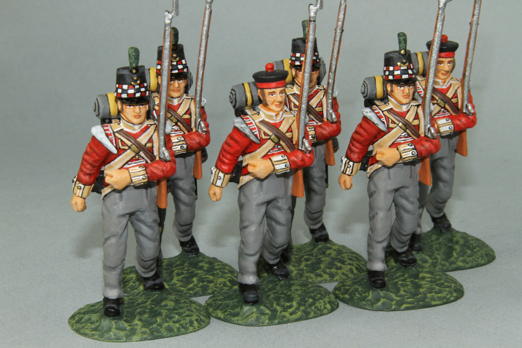 GLI9 - Highland Light Infantry Marching, Frontline Napoleonic range - Piers Christian Toy Soldiers - 3