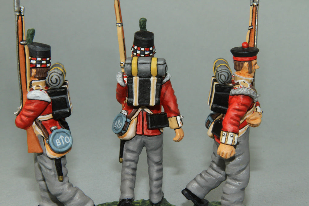 GLI9 - Highland Light Infantry Marching, Frontline Napoleonic range - Piers Christian Toy Soldiers - 2