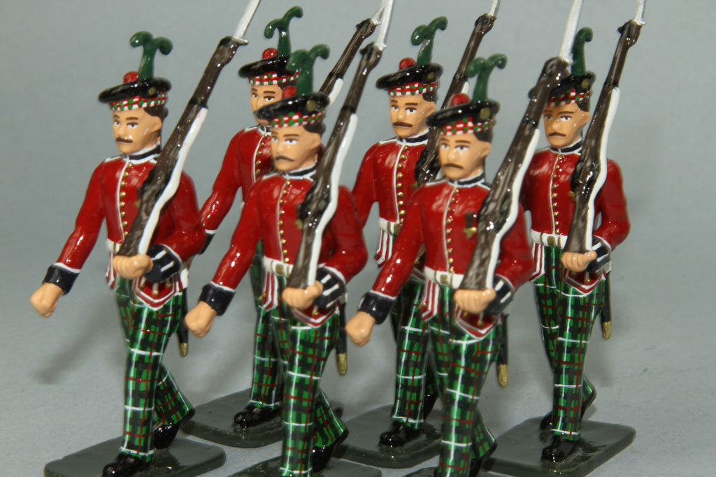 PD9 - King's Own Scottish Borderers Marching in dress uniform. Frontline WWI and more - Piers Christian Toy Soldiers - 1