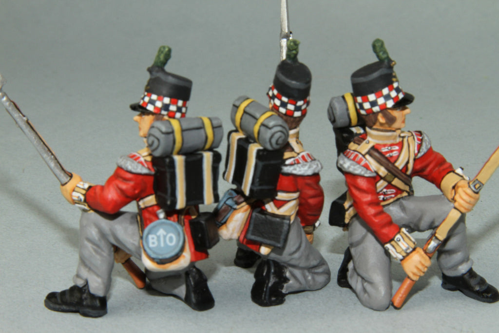 GLI4 - British Highland Light Infantry Kneeling at Repel, Frontline Napoleonic - Piers Christian Toy Soldiers - 2