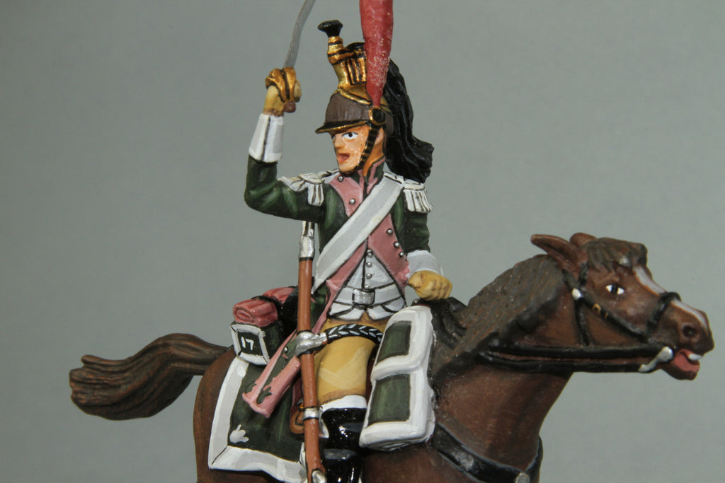 F17C3 - French 17th Dragoons Trooper from Frontline Napoleonic - Piers Christian Toy Soldiers - 1