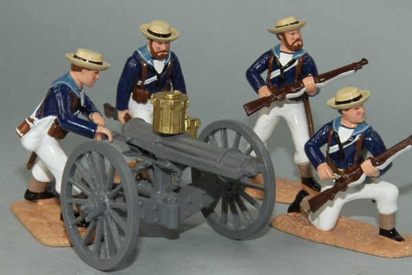 SC56 Royal Navy Gatling Gun and Crew, Sudan 1884-85 by Regal Toy Soldiers - Piers Christian Toy Soldiers - 1
