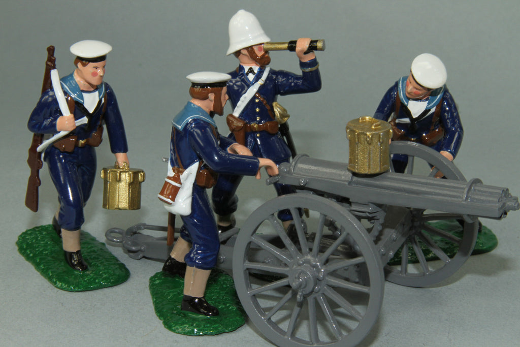 ZW24 Royal Navy Gatling Gun and Crew, Zulu War of 1879 by Regal Toy Soldiers - Piers Christian Toy Soldiers - 1
