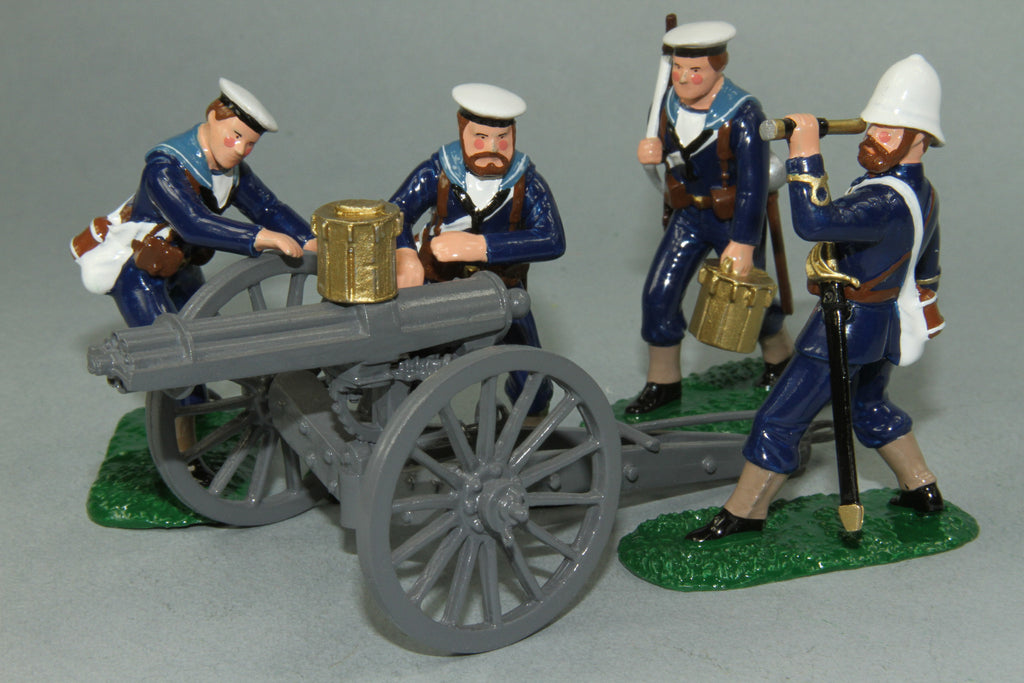 ZW24 Royal Navy Gatling Gun and Crew, Zulu War of 1879 by Regal Toy Soldiers - Piers Christian Toy Soldiers - 2
