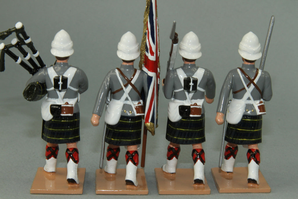 HR11G - Gordon Highlanders Marching, Grey Tunic version. Made by Regal Toy Soldiers - Piers Christian Toy Soldiers - 3