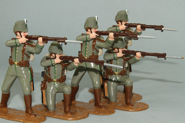 WW120 - German Jaegers, Western Front 1914. Made by Regal Toy Soldiers - Piers Christian Toy Soldiers - 1