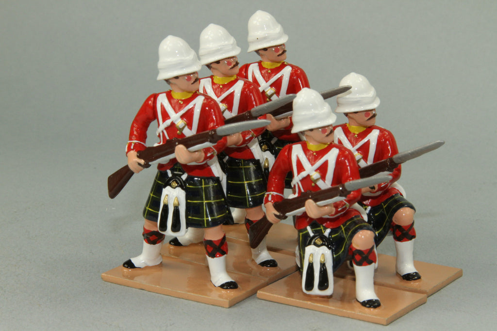 HR9C - Gordon Highlanders At the Ready, Red Tunic version. Made by Regal Toy Soldiers - Piers Christian Toy Soldiers - 1