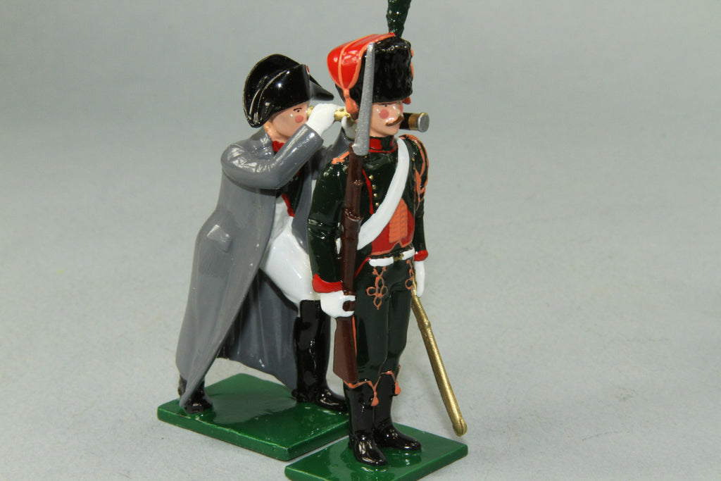"N326 - ""The Imperial Eye' Napoleon and Chasseur a Cheval by Regal Toy Soldiers - Piers Christian Toy Soldiers - 4"