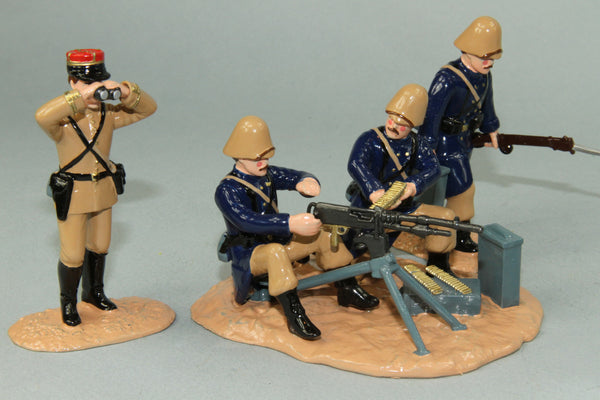 WW142 - French Foreign Legion Hotchkiss Machine Gun and crew, Gallipoli 1915. By Regal Toy Soldiers - Piers Christian Toy Soldiers - 1
