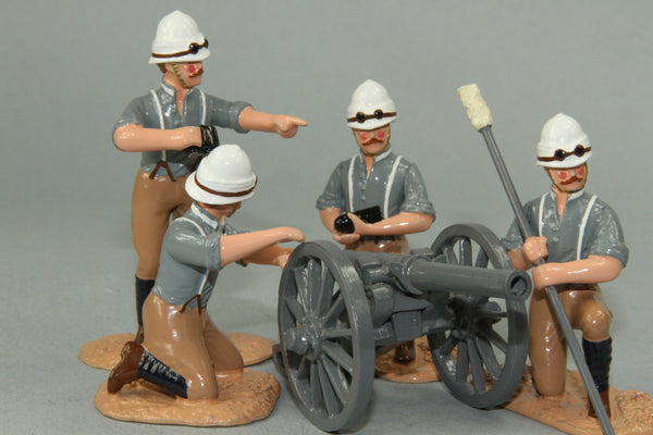 SC38 Camel Corps, R.A. 2.5inch Screw Gun and crew  - Sudan 1884-85, made by Regal Toy Soldiers - Piers Christian Toy Soldiers - 1