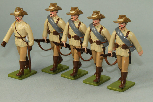 RE4 - First New Zealand Mounted Rifles on Parade. Made by Regal Toy Soldiers - Piers Christian Toy Soldiers