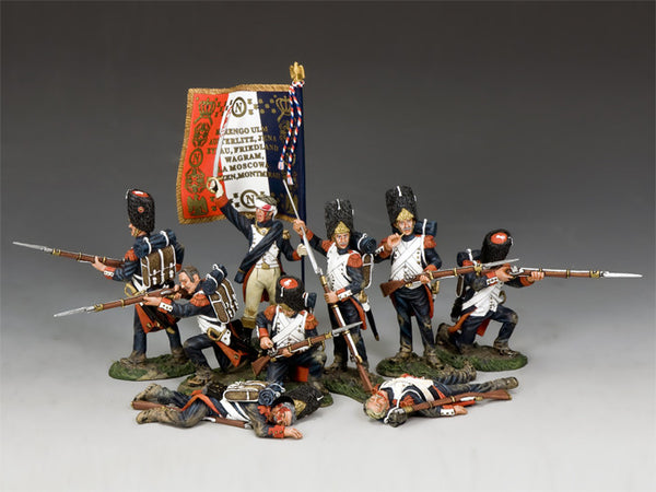 NA-S02 - The Old Guard Set With Standard, K&C Napoleonic French - Piers Christian Toy Soldiers