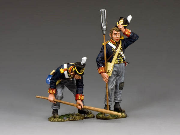 NA340 Royal Artillery Gunner Set A, K&C Napoleonic British - Piers Christian Toy Soldiers