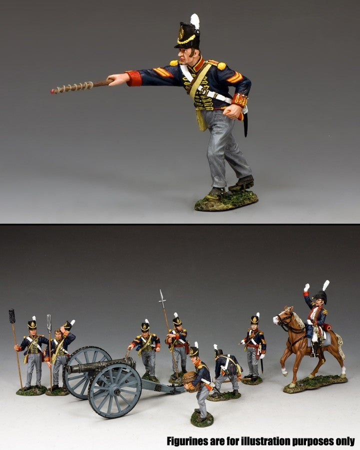 NA343 - Royal Artillery Corporal with Fuse Rod. K&C Napoleonic British - Piers Christian Toy Soldiers - 2
