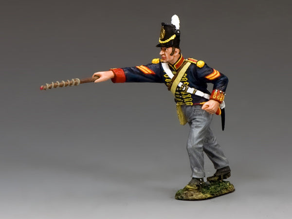 NA343 - Royal Artillery Corporal with Fuse Rod. K&C Napoleonic British - Piers Christian Toy Soldiers - 1