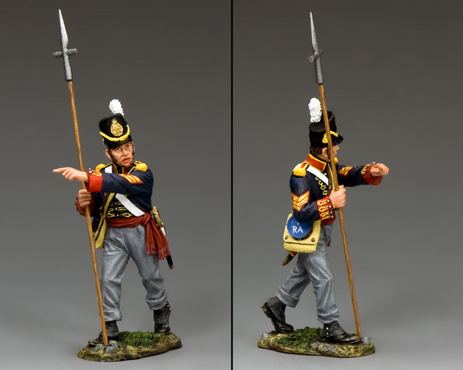 NA344 - Royal Artillery Sergeant with Pike, K&C Napoleonic British - Piers Christian Toy Soldiers - 2