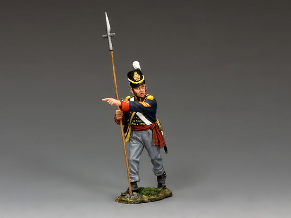 NA344 - Royal Artillery Sergeant with Pike, K&C Napoleonic British - Piers Christian Toy Soldiers - 1