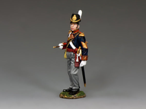NA345 - Royal Artillery Battery Sergeant Major. K&C Napoleonic British - Piers Christian Toy Soldiers - 1