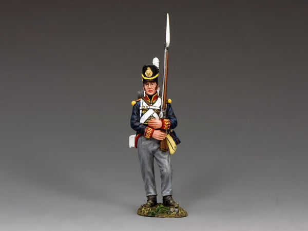NA347 - Royal Artillery soldier marching, K&C Napoleonic British - Piers Christian Toy Soldiers