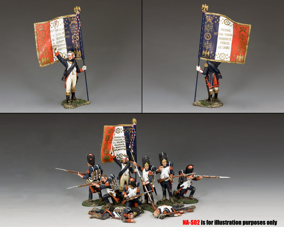 NA366 - Officer Flagbearer with Regimental Colours - K&C Napoleonic French - Piers Christian Toy Soldiers - 2