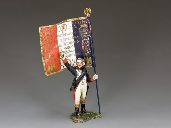 NA366 - Officer Flagbearer with Regimental Colours - K&C Napoleonic French - Piers Christian Toy Soldiers - 1